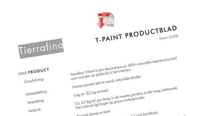 Product sheet T-paint Textured Clay Paint